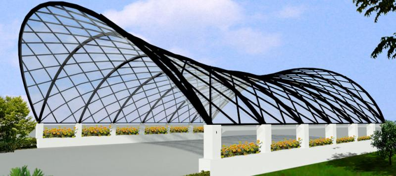 Metal Canopy Structures : Architectural tensile structure gallery