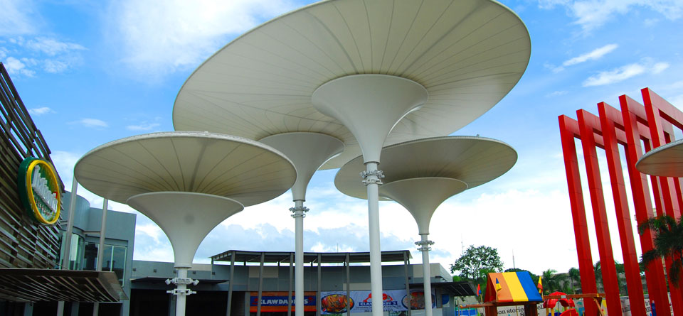 Inverted Conical Tensile Structure Gallery